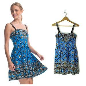Nanette Lepore Bandana Print Blindfold Dress Blue